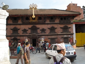 Kumari Temple - where the child goddess of the Newari tribe stay.