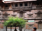 Inner court of the Kumari temple at Durbar Square in Kathmandu