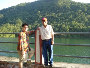Megh and me on the island at Fewa Lake, Pokhara, Nepal