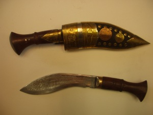 Nepali kukhuri knife and sheath